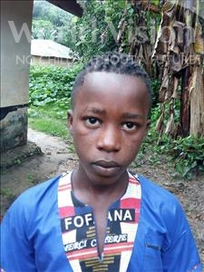 Choose a child to sponsor, like this little boy from Jaiama Bongor, Alimamy age 13