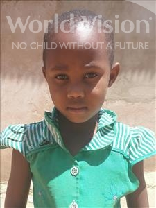 Choose a child to sponsor, like this little girl from Kilimatinde, Merigoleth Charles age 6