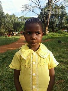 Choose a child to sponsor, like this little girl from Kibiga-Mulagi, Gorret age 6