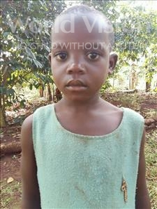 Choose a child to sponsor, like this little girl from Kibiga-Mulagi, Carol age 5