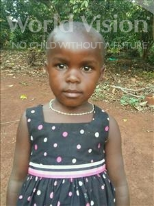 Choose a child to sponsor, like this little girl from Kibiga-Mulagi, Rose age 4
