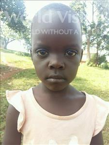 Choose a child to sponsor, like this little girl from Kibiga-Mulagi (Kimu), Kirabo age 5