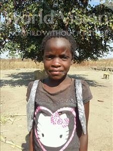 Choose a child to sponsor, like this little girl from Keembe, Eliter age 7