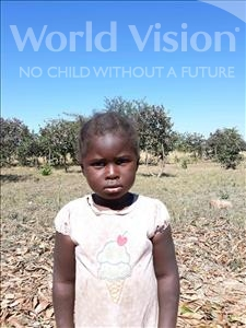 Choose a child to sponsor, like this little girl from Keembe, Clera age 3