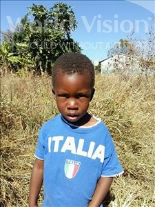 Choose a child to sponsor, like this little boy from Keembe, Prince age 3