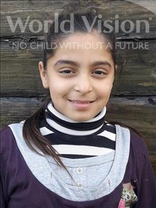 Choose a child to sponsor, like this little girl from Shkodra, Desara age 11