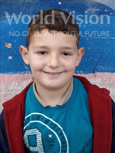 Choose a child to sponsor, like this little boy from Shkodra, Amarildo age 8