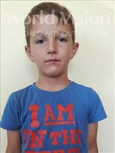 Choose a child to sponsor, like this little boy from Shkodra, Imran age 7