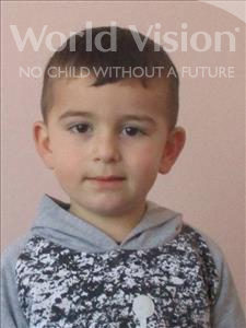 Choose a child to sponsor, like this little boy from Shkodra, Arbios age 5