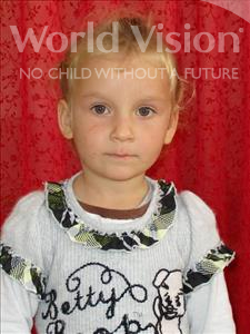 Choose a child to sponsor, like this little girl from Shkodra, Fabjola age 5