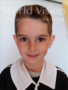 Choose a child to sponsor, like this little boy from Shkodra, Emanuel age 7