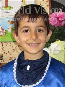 Choose a child to sponsor, like this little boy from Shkodra, Amin age 6