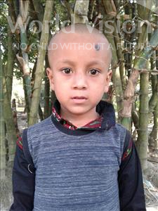 Choose a child to sponsor, like this little boy from Ghoraghat, Jobair age 7
