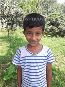 Choose a child to sponsor, like this little boy from Ghoraghat, Rabbi age 7