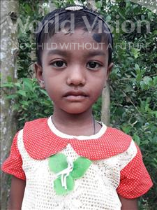 Choose a child to sponsor, like this little girl from Ghoraghat, Prema age 5