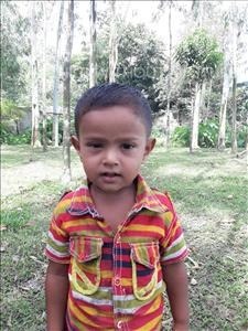 Choose a child to sponsor, like this little boy from Ghoraghat, Borhan age 2