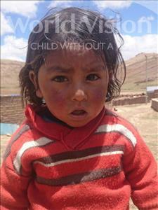 Choose a child to sponsor, like this little boy from Mosoj P'unchay, Deymar age 3