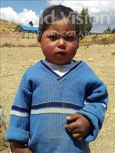 Choose a child to sponsor, like this little boy from Mosoj Punchay, Rudi age 2