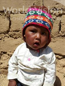 Choose a child to sponsor, like this little girl from Mosoj Punchay, Maribel age 1