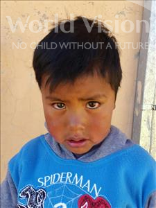 Choose a child to sponsor, like this little boy from Mosoj P'unchay, Ariel age 5