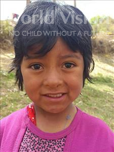 Choose a child to sponsor, like this little girl from Mosoj Punchay, Sandra age 7