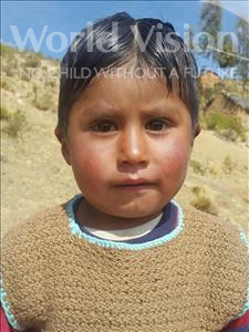 Choose a child to sponsor, like this little boy from Mosoj Punchay, Amadeo age 3