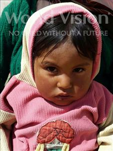 Choose a child to sponsor, like this little girl from Mosoj Punchay, Valeriana age 2