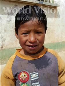 Choose a child to sponsor, like this little boy from Mosoj Punchay, Luis age 7