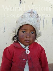 Choose a child to sponsor, like this little girl from Khantati, Esther age 2