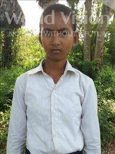 Choose a child to sponsor, like this little girl from Soutr Nikom, Kanha age 13