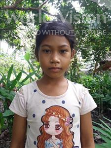 Choose a child to sponsor, like this little girl from Soutr Nikom, Chhaivan age 10