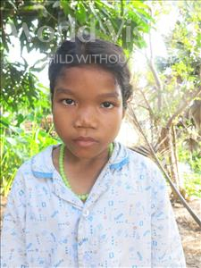 Choose a child to sponsor, like this little girl from Soutr Nikom, Chanthy age 10