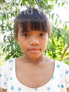 Choose a child to sponsor, like this little girl from Soutr Nikom, Srey Phirun age 8