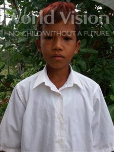 Choose a child to sponsor, like this little boy from Soutr Nikom, Mesa age 11