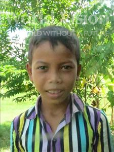 Choose a child to sponsor, like this little boy from Soutr Nikom, Sopheap age 12