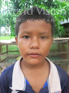 Choose a child to sponsor, like this little boy from Soutr Nikom, Panha age 11