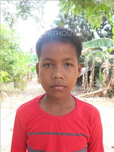 Choose a child to sponsor, like this little boy from Soutr Nikom, Lythov age 12