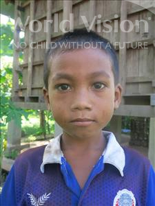 Bunsak, aged 7, from Cambodia, is hoping for a World Vision sponsor