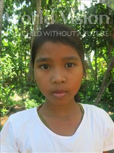 Choose a child to sponsor, like this little girl from Soutr Nikom, Sika age 9
