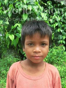 Choose a child to sponsor, like this little boy from Soutr Nikom, Dan age 8