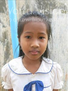 Choose a child to sponsor, like this little girl from Soutr Nikom, Kanha age 8