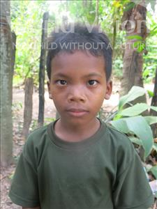 Choose a child to sponsor, like this little boy from Soutr Nikom, Reaksa age 13