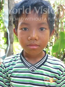 Choose a child to sponsor, like this little boy from Soutr Nikom, Kov age 9
