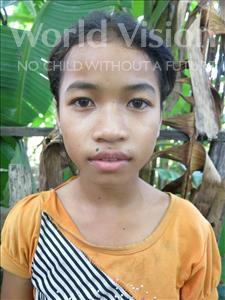 Choose a child to sponsor, like this little girl from Soutr Nikom, Theary age 11