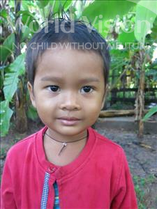 Choose a child to sponsor, like this little boy from Soutr Nikom, Makara age 4