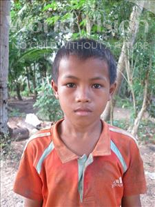 Choose a child to sponsor, like this little boy from Soutr Nikom, Sothan age 9