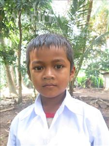 Choose a child to sponsor, like this little boy from Soutr Nikom, Kimheng age 7