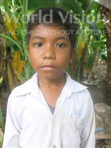 Choose a child to sponsor, like this little boy from Soutr Nikom, Vithey age 10