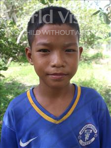 Pisey, aged 12, from Cambodia, is hoping for a World Vision sponsor