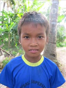 Choose a child to sponsor, like this little boy from Soutr Nikom, Virun age 9